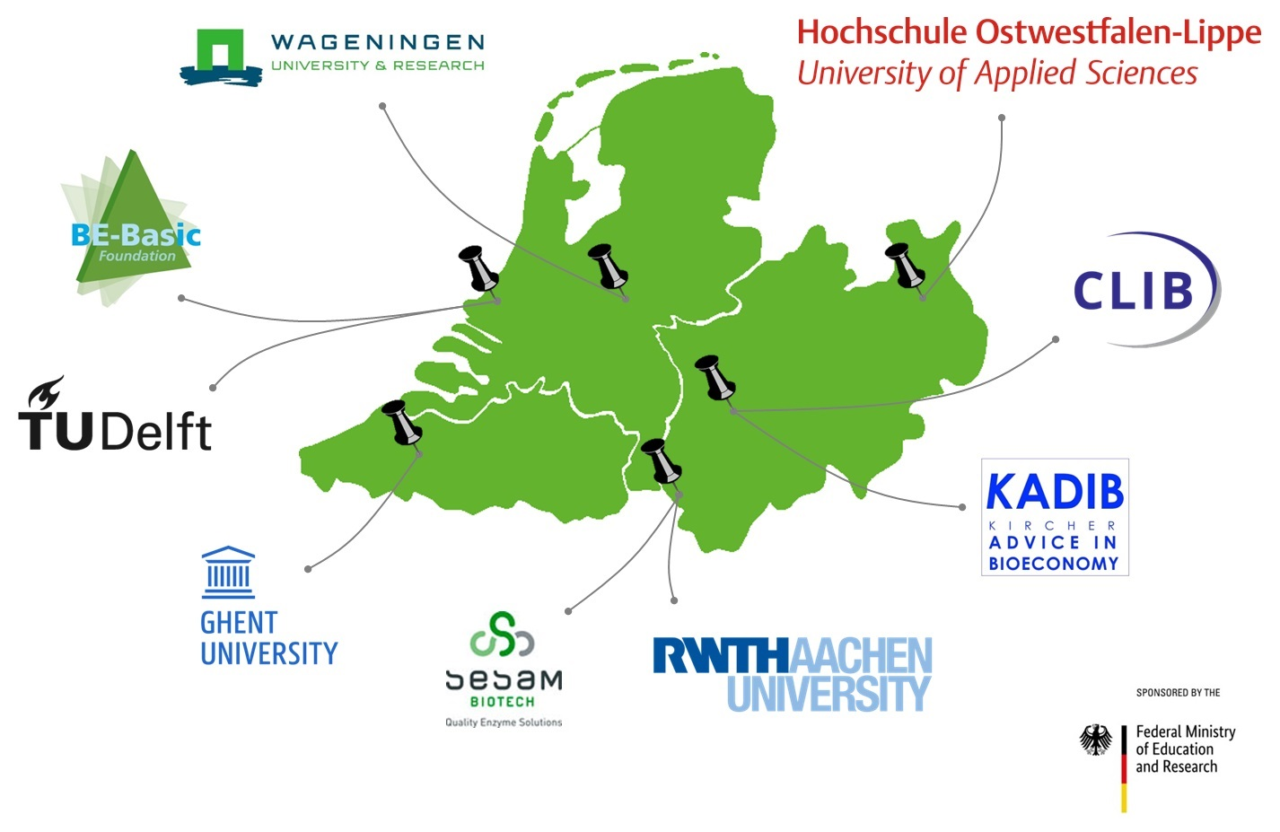 map of BIG-Cluster institutions involved in the MOOC